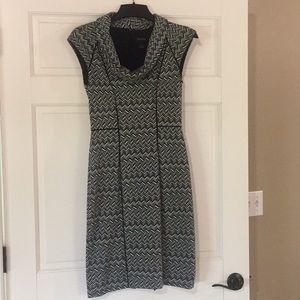 WHBM cap sleeve cowl neck dress